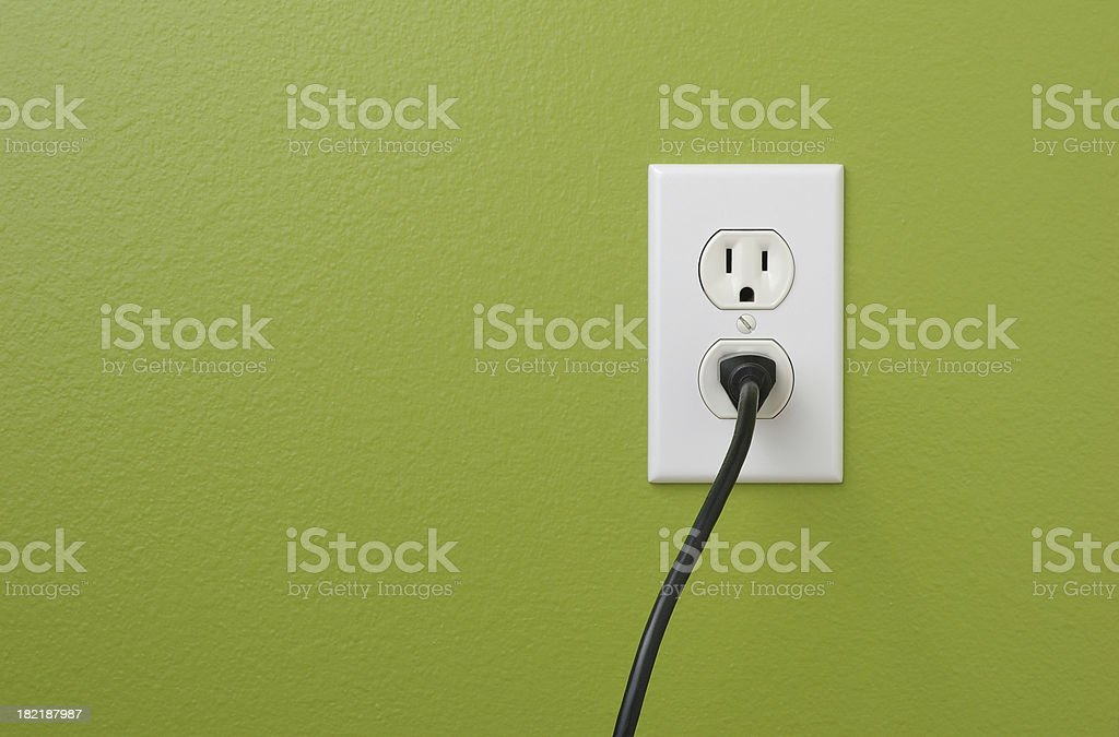 Wall Power Outlet stock photo