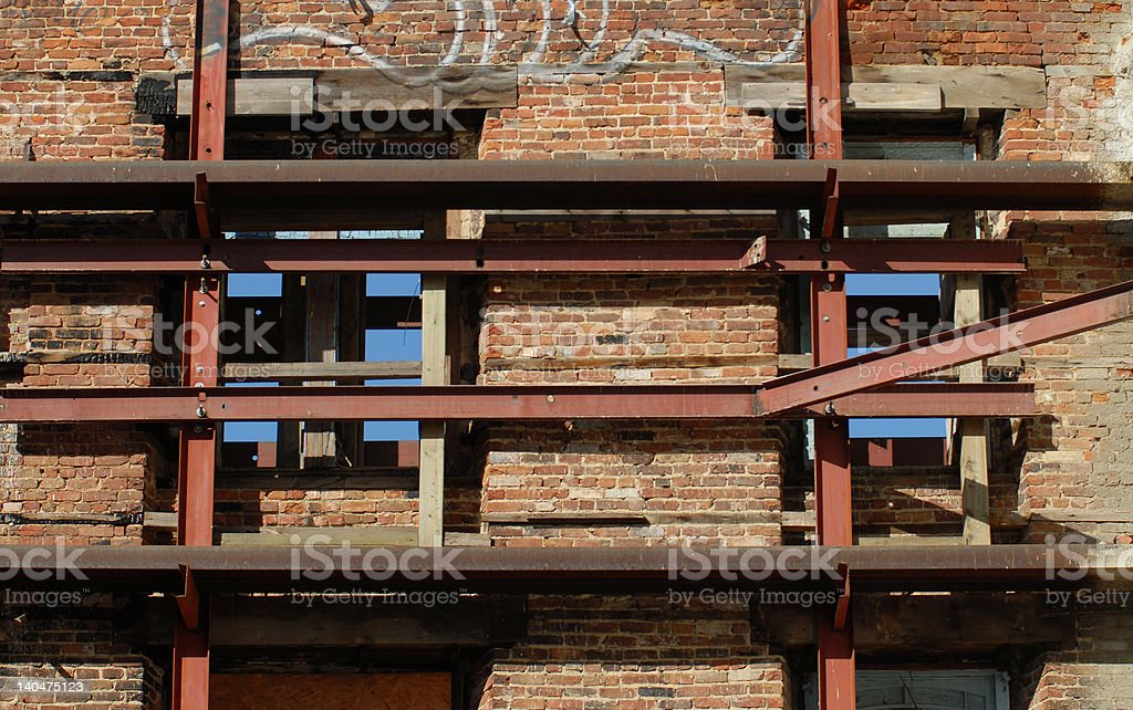 Wall renovation royalty-free stock photo