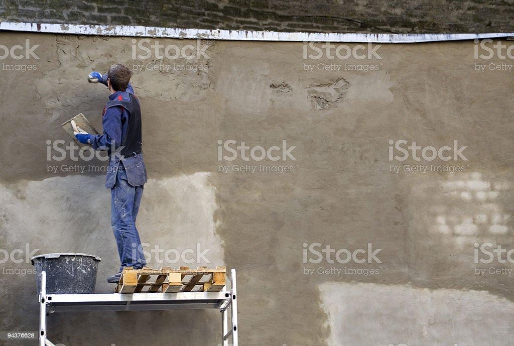 Wall repair royalty-free stock photo