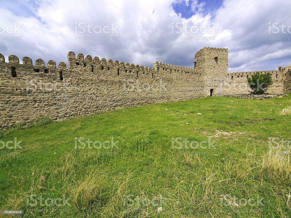 Wall ruins stock photo