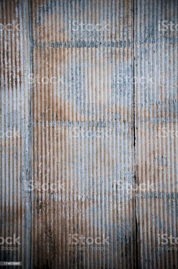 Wall Rusty corrugated iron horizontal pattern royalty-free stock photo