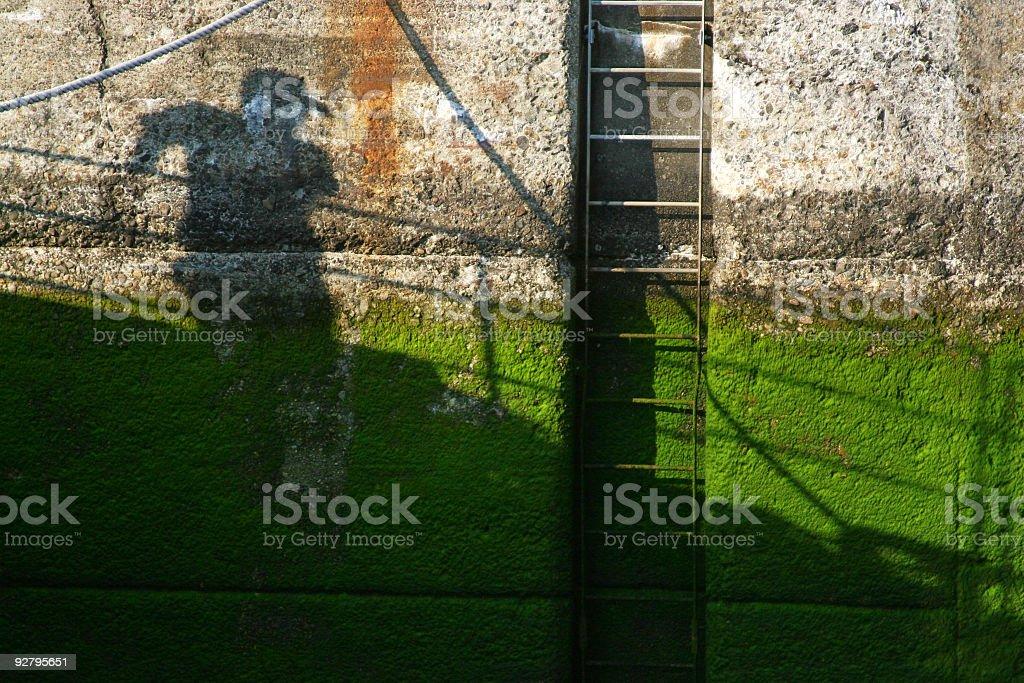 Wall shadow royalty-free stock photo