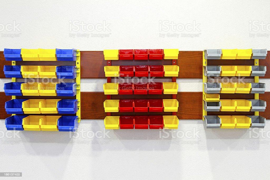 Wall shelves stock photo