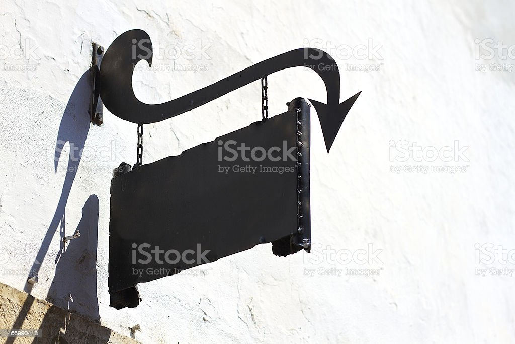 wall sign stock photo