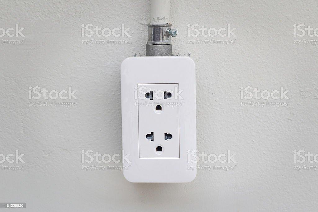 Wall Socket stock photo