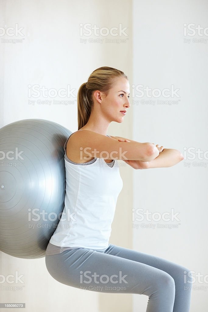 Wall squat royalty-free stock photo