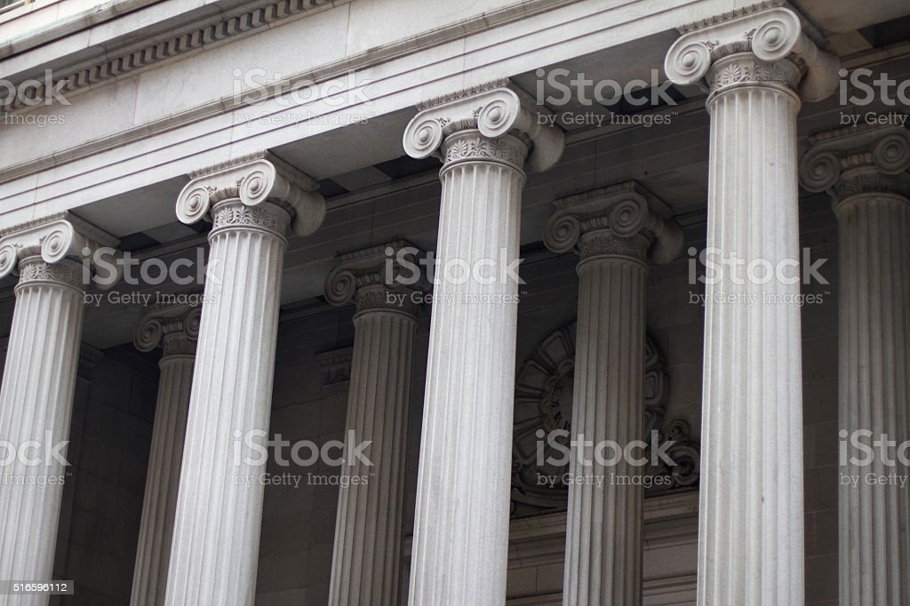 Wall st. Building stock photo