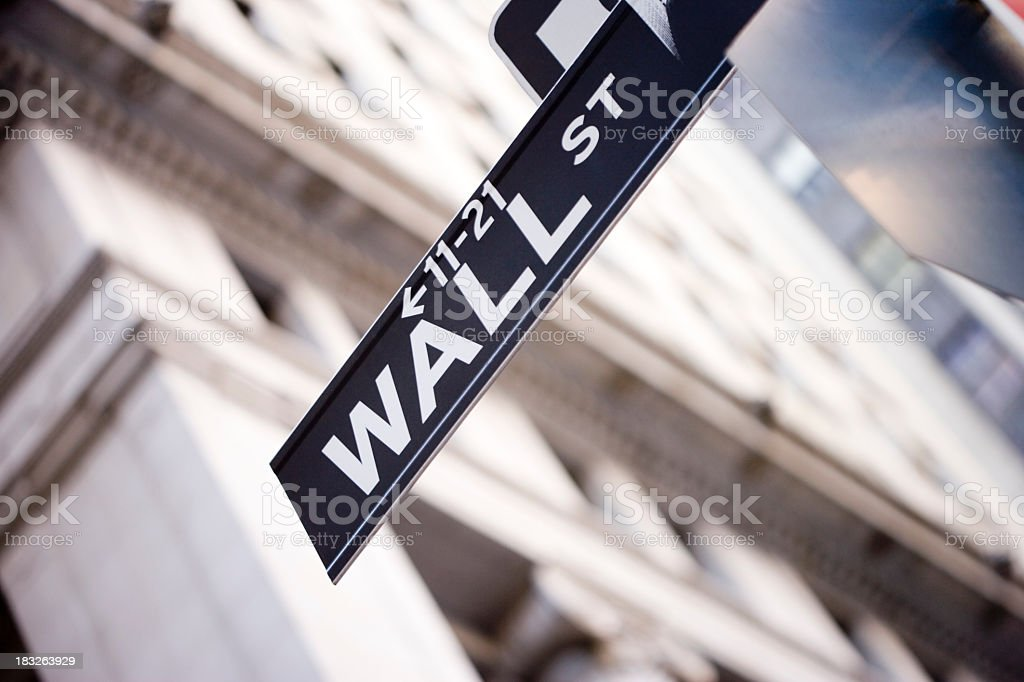 Wall St royalty-free stock photo