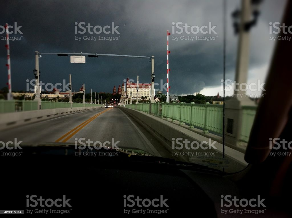 Wall Storm Cloud stock photo