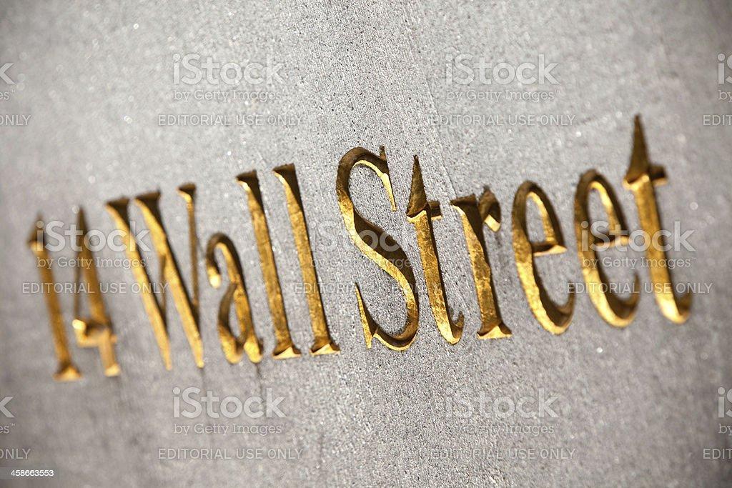 Wall Street 14 royalty-free stock photo