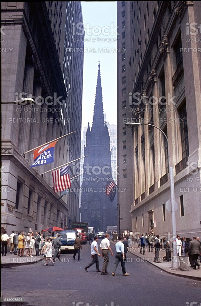 Wall Street, 1969 stock photo