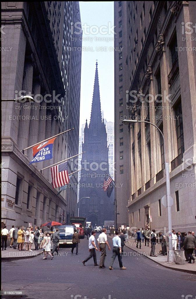 Wall Street, 1969 stock photo
