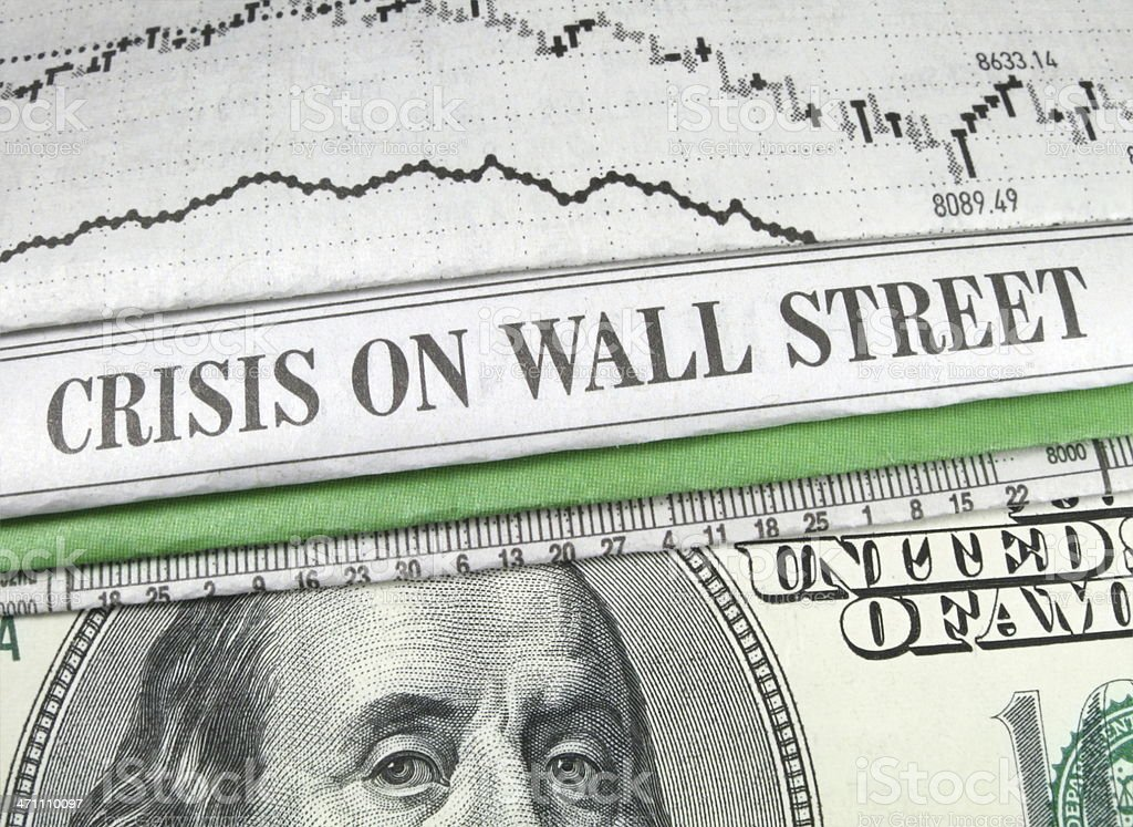 Wall Street and Cash royalty-free stock photo