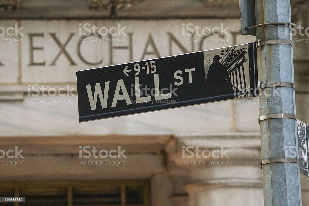 Wall Street and Stock Exchange stock photo