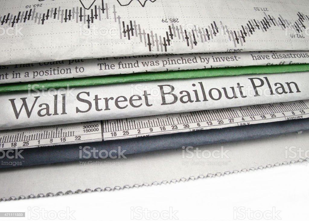 Wall Street Bailout Plan royalty-free stock photo
