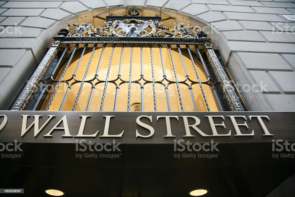 Wall Street Building Facade royalty-free stock photo