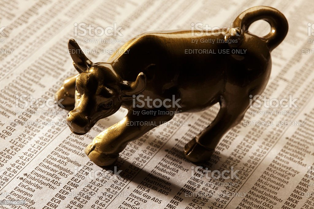 Wall Street Bull stock photo