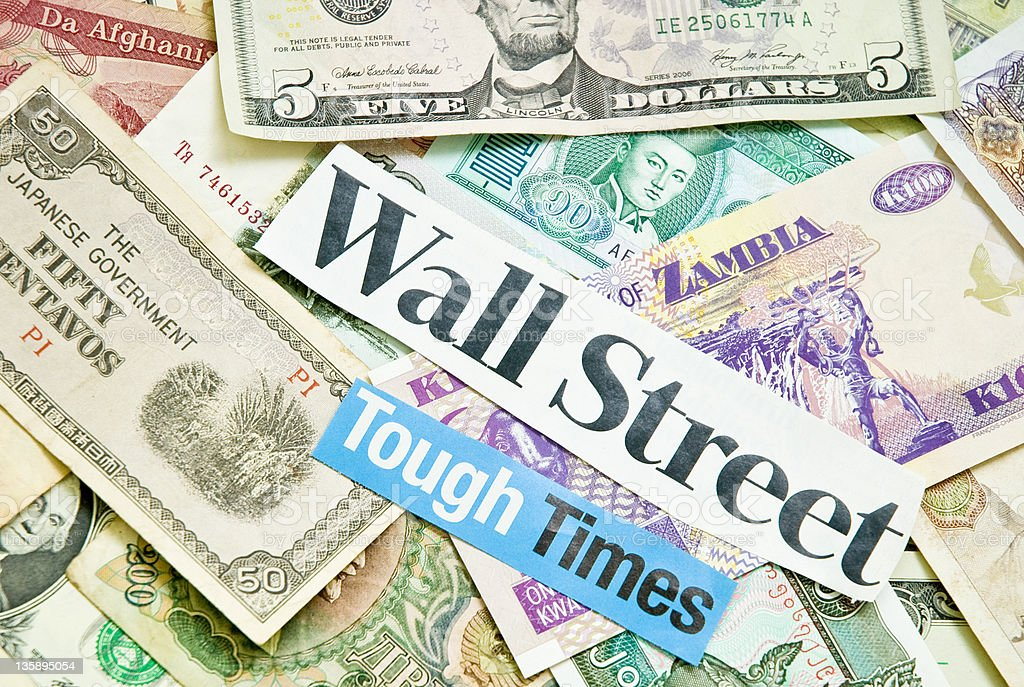 Wall Street Crisis stock photo