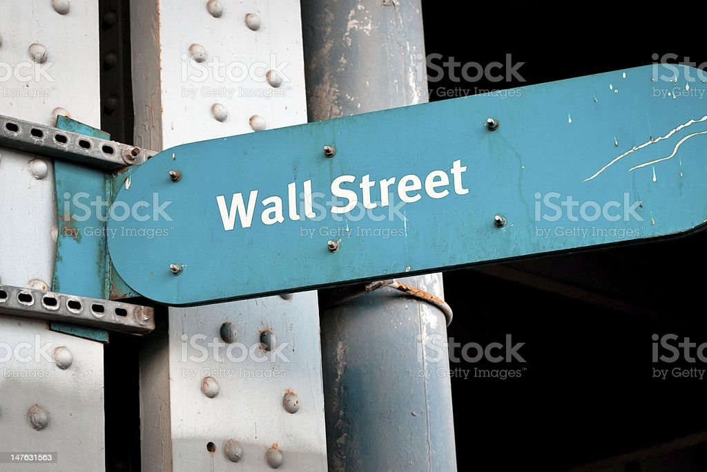 Wall Street direction sign in New York, USA royalty-free stock photo