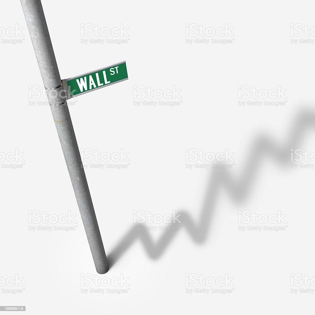 Wall Street Graph royalty-free stock photo