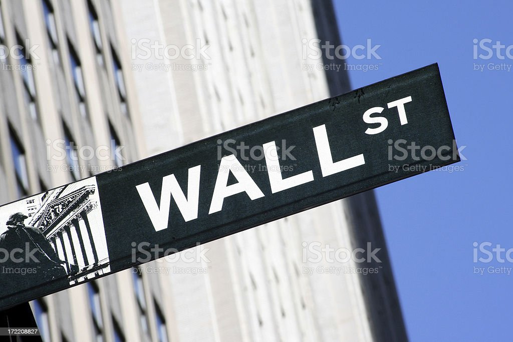 Wall Street in New York royalty-free stock photo