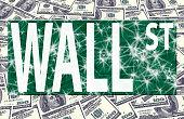 wall street logo on us dollars