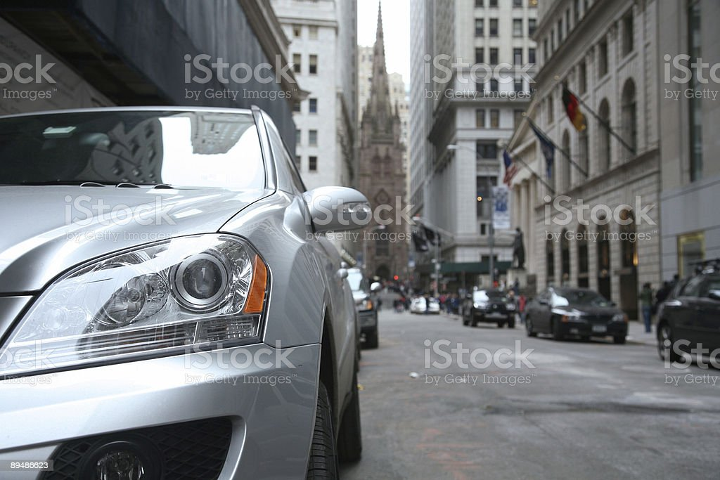 Wall Street, Low Angle View royalty-free stock photo