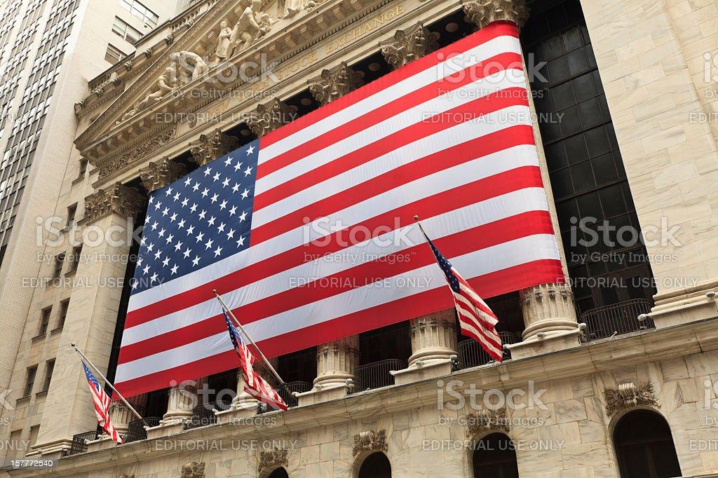 Wall Street - New York royalty-free stock photo