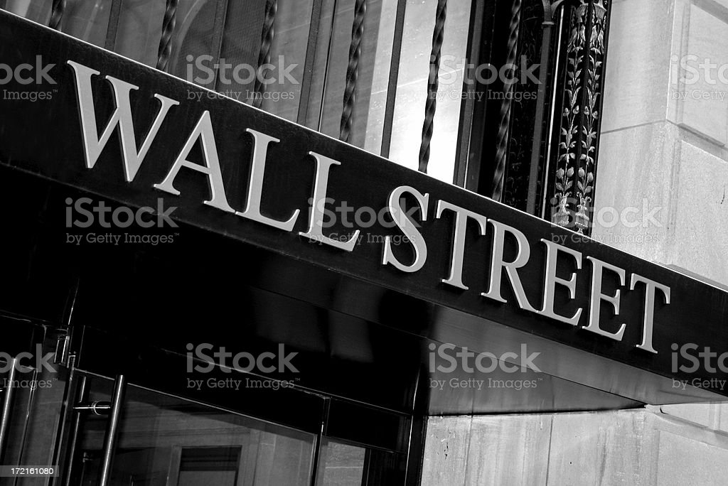 Wall Street - New York royalty-free stock photo