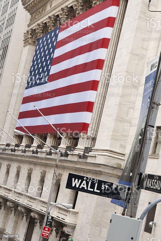 Wall Street New York royalty-free stock photo