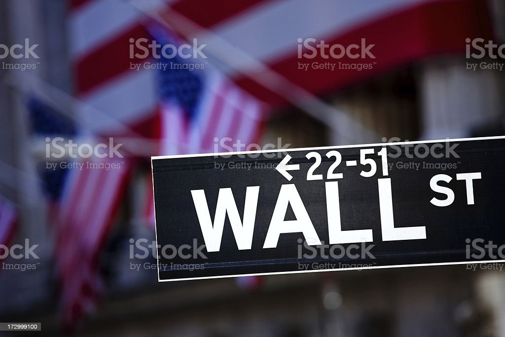 Wall Street NY royalty-free stock photo