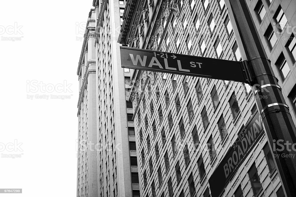 Wall Street, NY stock photo