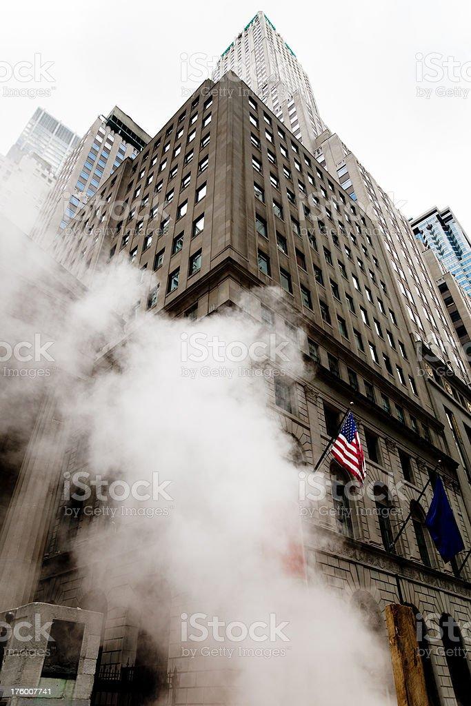 Wall Street NYC Steam royalty-free stock photo