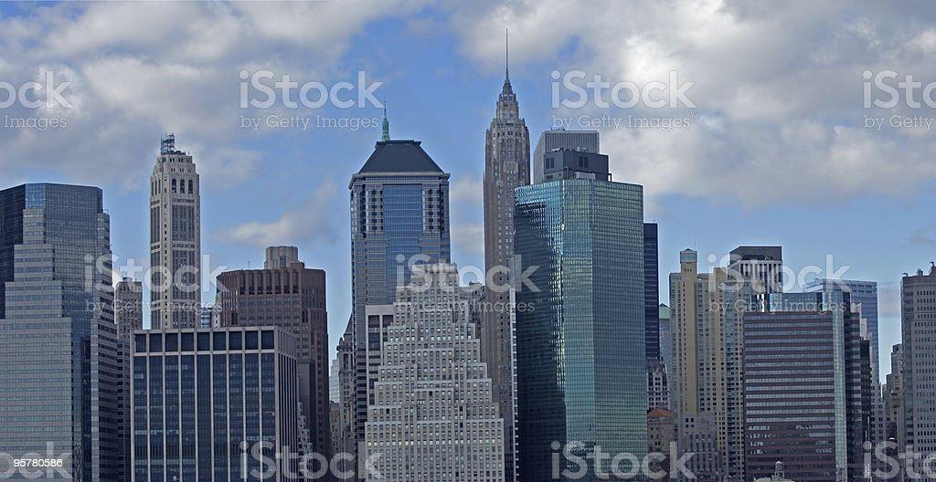 Wall street panorama royalty-free stock photo