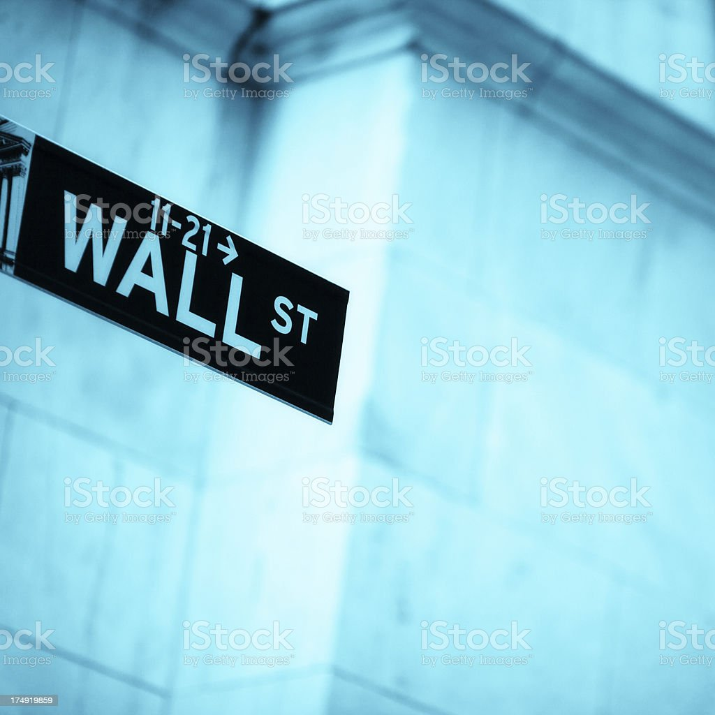Wall Street royalty-free stock photo
