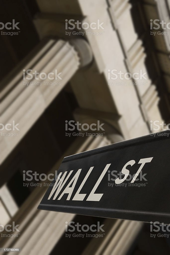 Wall Street road sign royalty-free stock photo