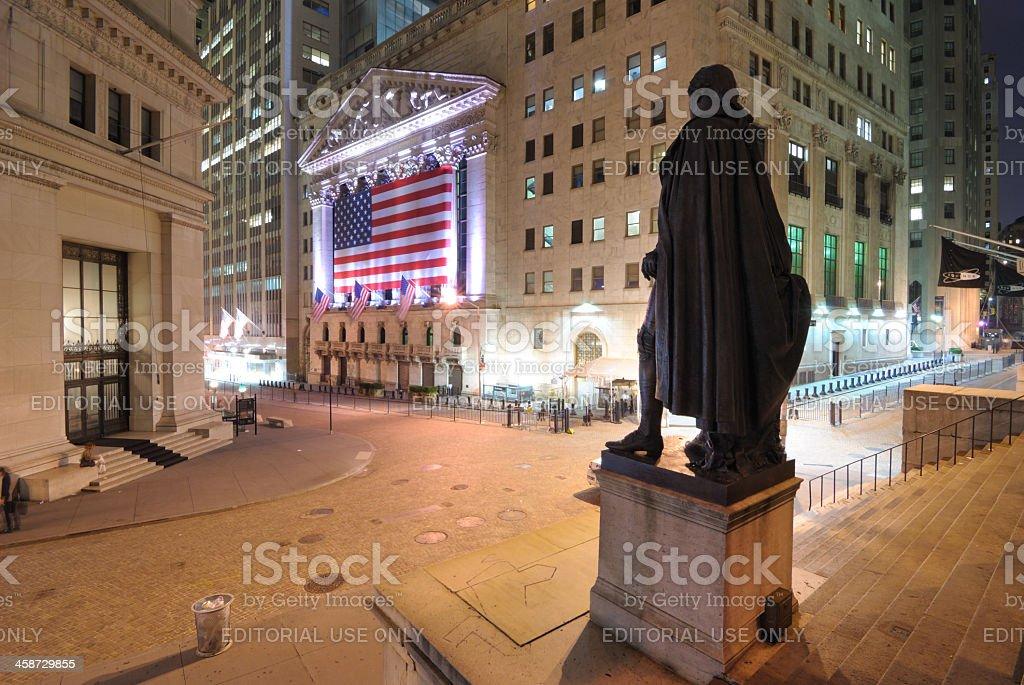 Wall Street Scene royalty-free stock photo