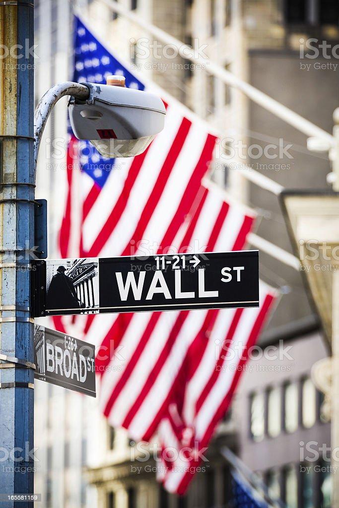 Wall Street sign, New York City, USA royalty-free stock photo