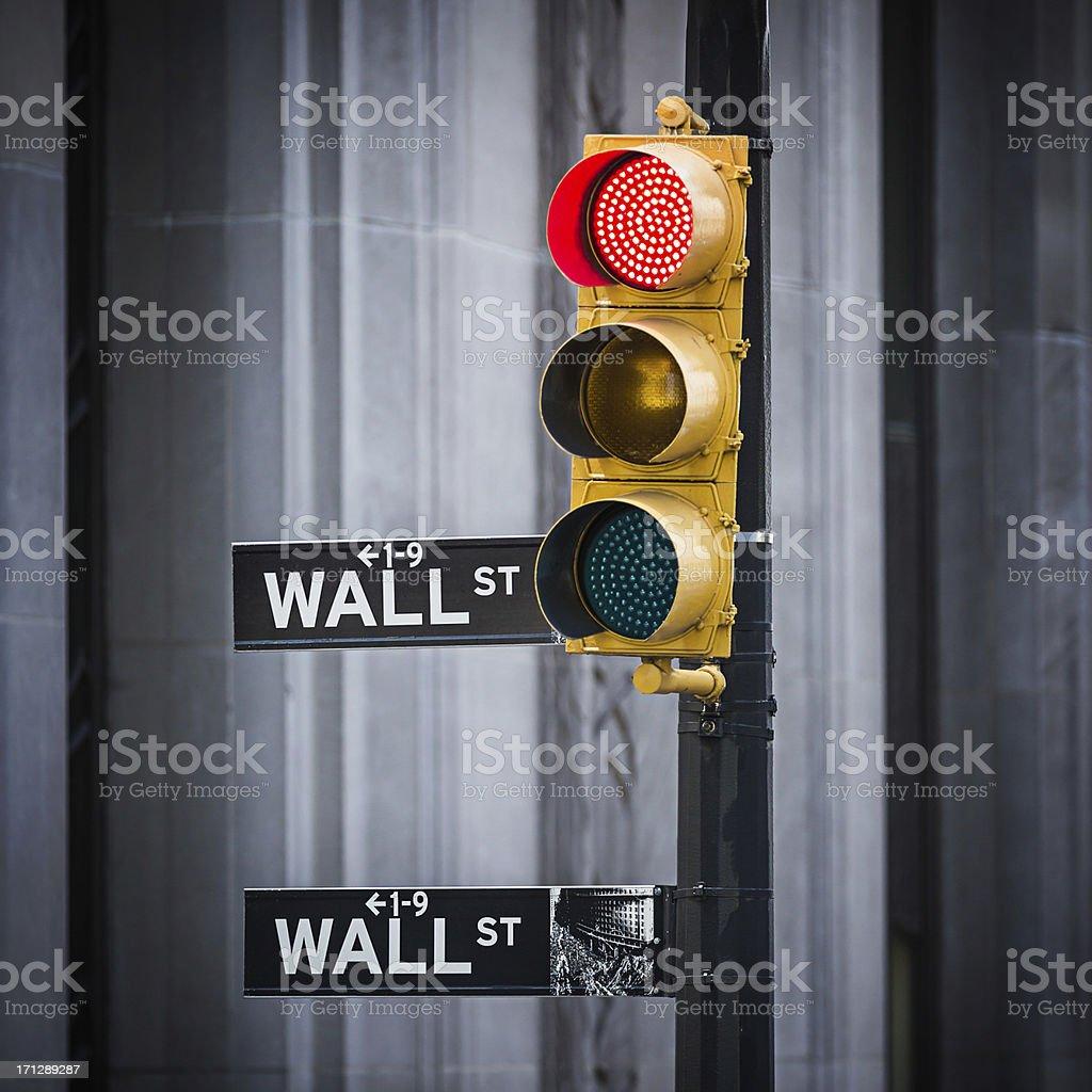 Wall Street sign, New York City, USA stock photo
