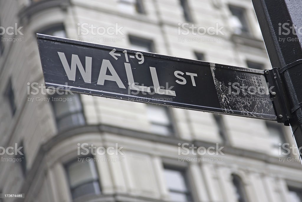 Wall street sign # 2 royalty-free stock photo
