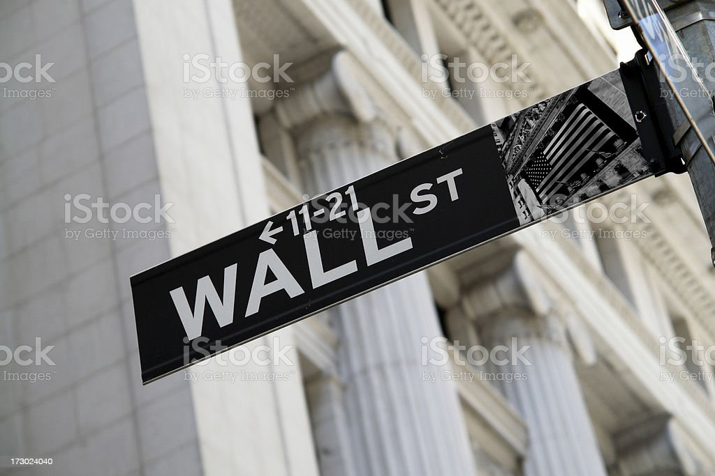 Wall Street Sign royalty-free stock photo