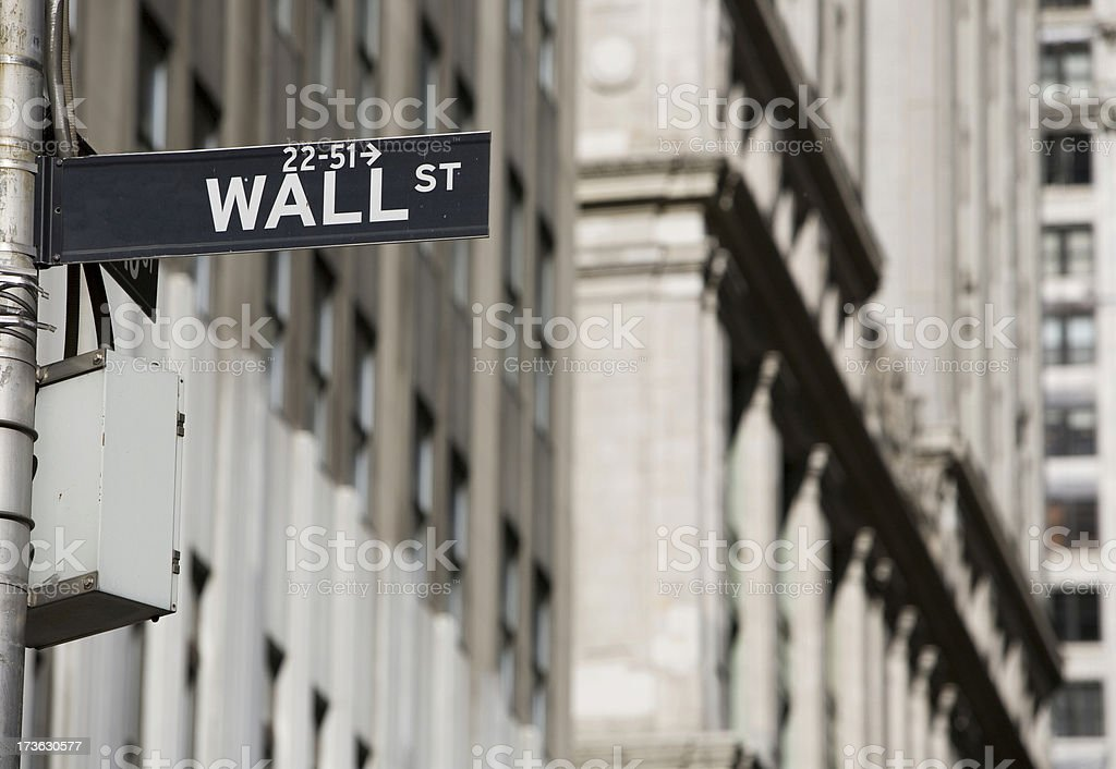 Wall Street sign. royalty-free stock photo