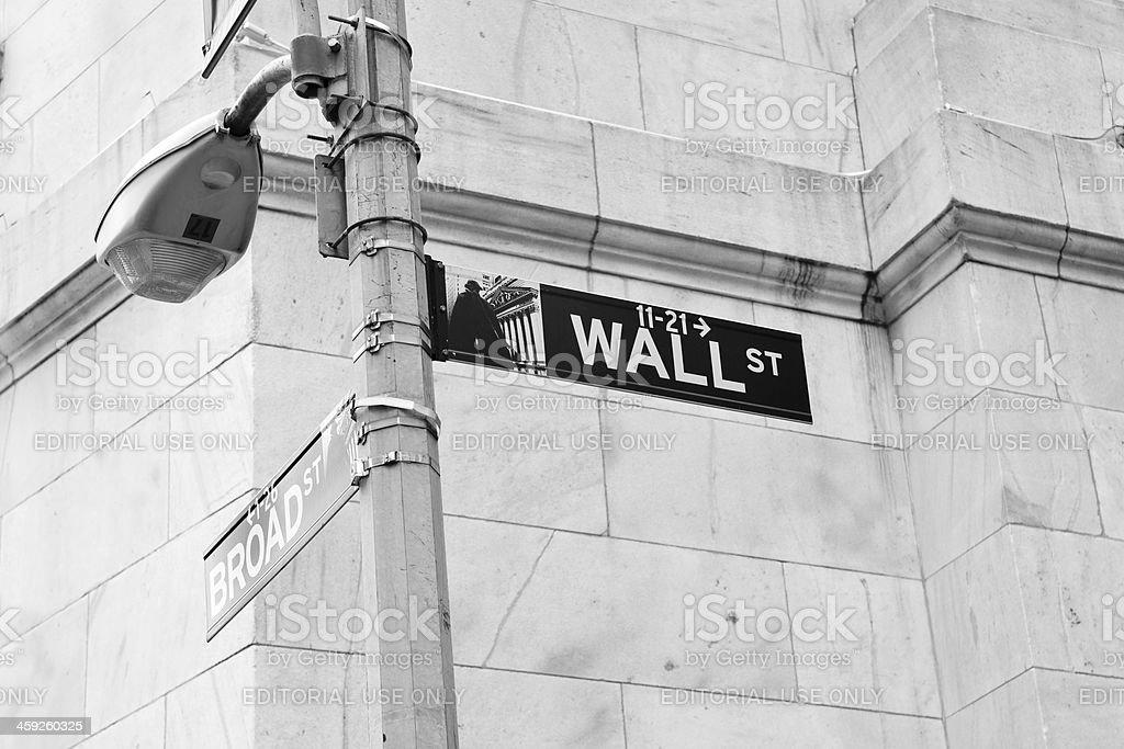 Wall Street Sign royalty-free stock photo