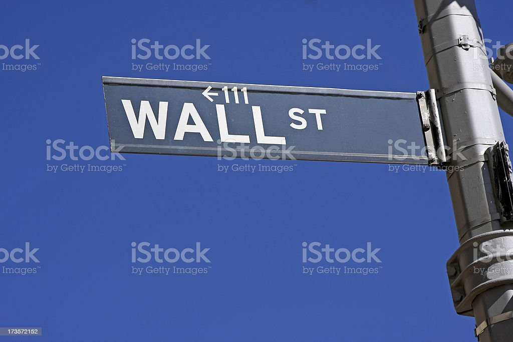 Wall Street sign # 13 XL royalty-free stock photo