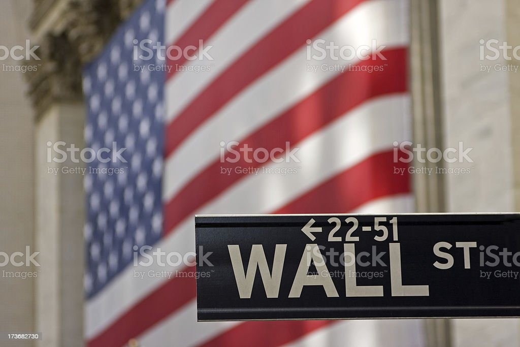 Wall Street sign # 9 XL royalty-free stock photo