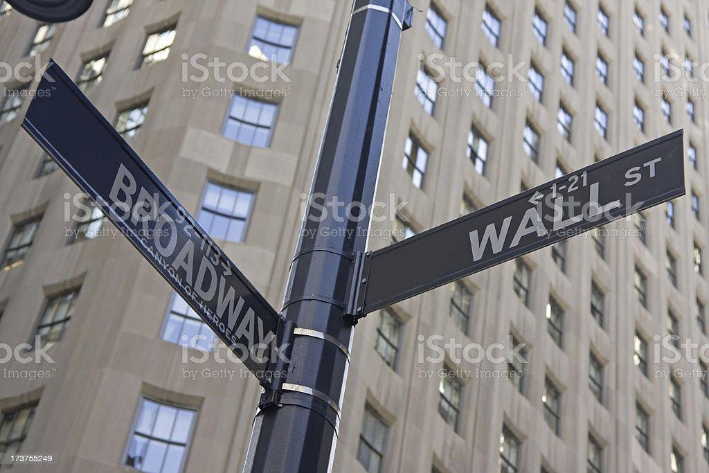 Wall Street sign # 7 XL royalty-free stock photo