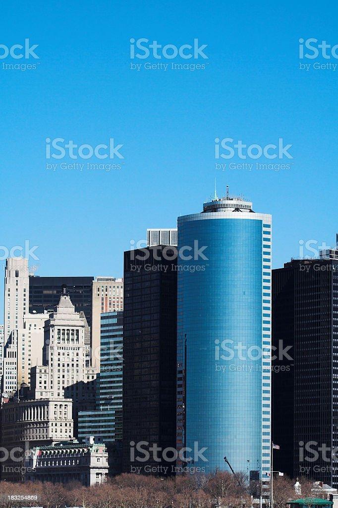 Wall Street Skyline stock photo