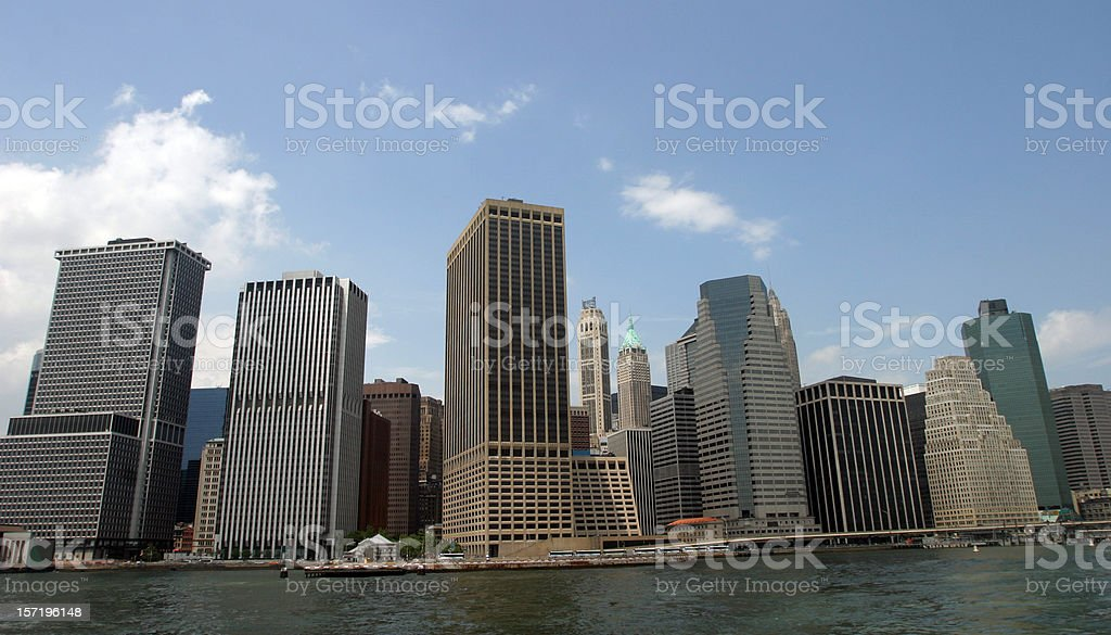 Wall Street Skyscrapers New York City royalty-free stock photo