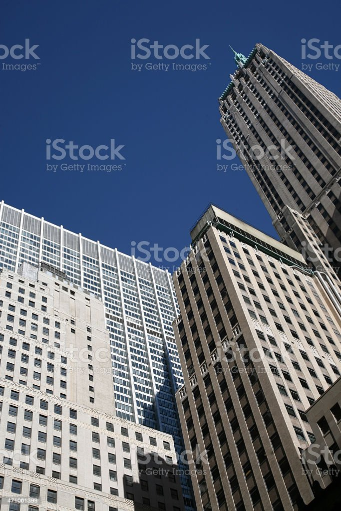Wall Street Skyscrapers royalty-free stock photo