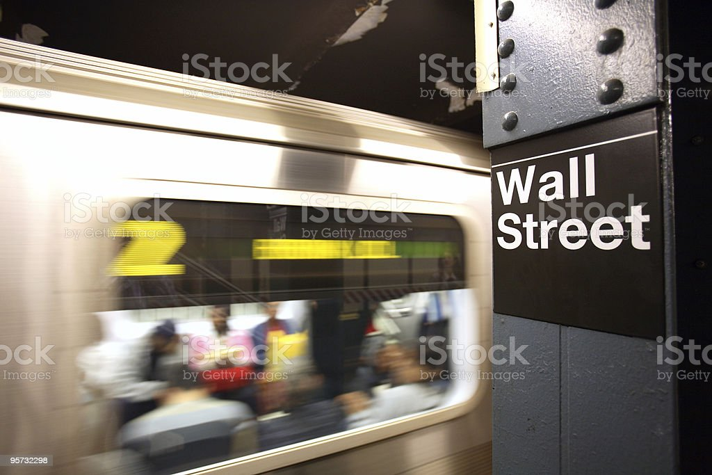 Wall Street Station, New York royalty-free stock photo